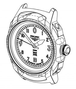 S1 watch technical drawing Zero West