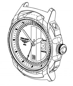 RAF-C Technical drawing Zero West watch