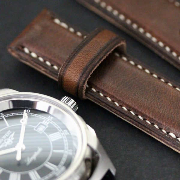 Fully Stitched Padded Horween Derby - Nut Brown Zero West Watches