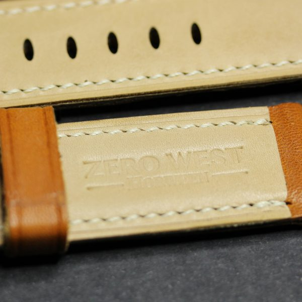 Fully Stitched Padded English Bridle Leather - London Colour Zero West Watches
