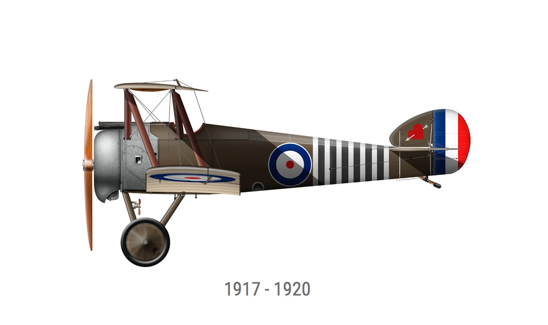 Sopworth Plane illustration side profile by Zero West