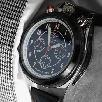 LS-1 land speed bullhead watch from Zero West black and white